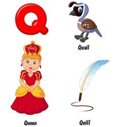 Q alphabet vector