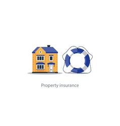 Real estate coverage icon protection system vector image vector image