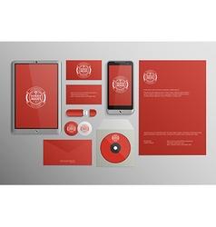 Realistic Corporate Identity Business Set Design vector image
