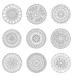 Set of circles logo design doodle elements vector