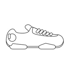 sneakers sport shoes icon image vector image vector image