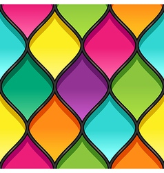 Stained glass black vector