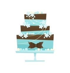Wedding cake in flat cartoon style vector image