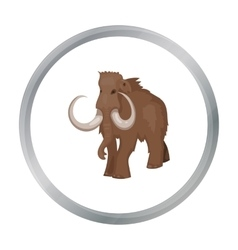 Woolly mammoth icon in cartoon style isolated on vector image vector image