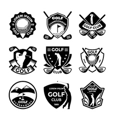 Golf badges vector