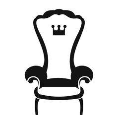 King throne chair icon simple style vector image