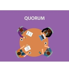 Quorum concept with team business vector