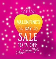 Valentines day saletypography vector