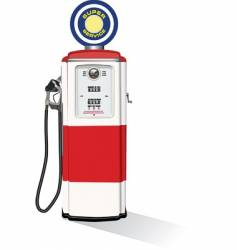 Vintage gasoline pump vector