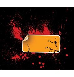 grunge sticker vector image
