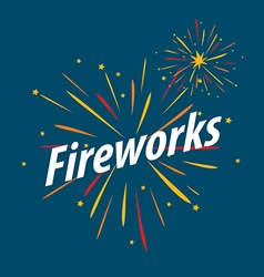 logo for traditional fireworks festival vector image