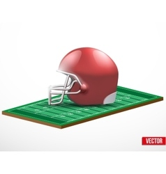 Symbol of a american football game and field vector