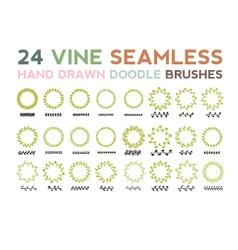 VINESeamlessBrush-vs vector image