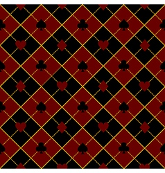 Card suits royal red black diamond background vector