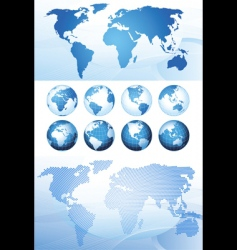 Global series and map background vector