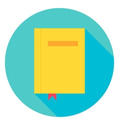 Book with bookmark circle icon vector