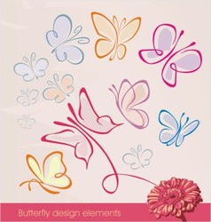 Butterfly design elements vector