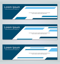 Abstract blue banners templates vector
