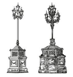 Ancient lanterns llustration vector