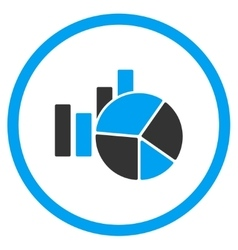 Charts Flat Icon vector image