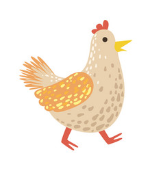 chicken cute toy animal with detailed elements vector image