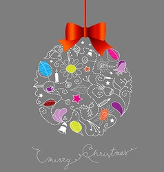 Christmas decoration created from many christmas vector