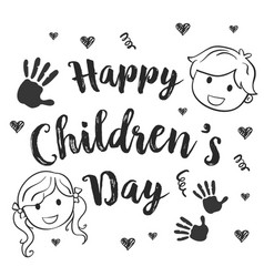 Collection children day hand draw vector