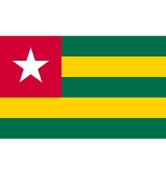Flag of Togo in correct proportions and colors vector image vector image