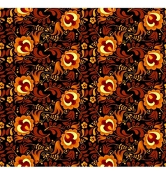 floral pattern in Russian hohloma style vector image
