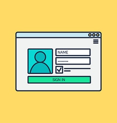 form of login to account vector image