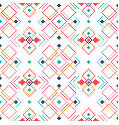 geometric seamless pattern with ethnic ornament vector image vector image