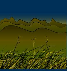 Green steppe grass vector