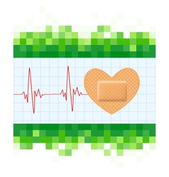 Heart shape medical plaster vector image vector image