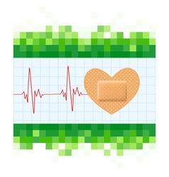 Heart shape medical plaster vector image