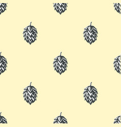 hop beer seamless pattern background vector image vector image