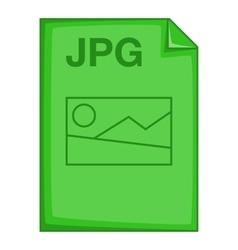 Jpg file icon cartoon style vector