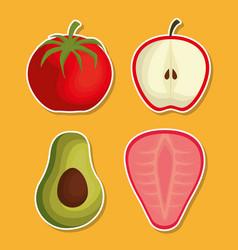 nutrition concept design vector image vector image