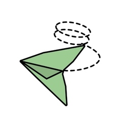 Paper aircraft launch route fly line dotted vector