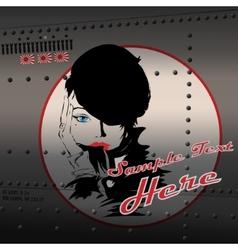 Pin-up girl vector image
