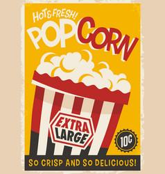 Popcorn retro poster vector
