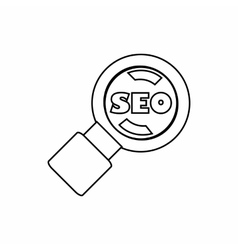 SEO optimization icon outline style vector image