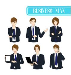 Set business man vector