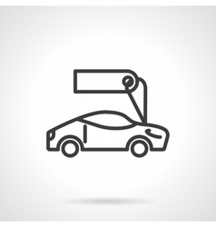 Sport car for sale black line design icon vector image vector image