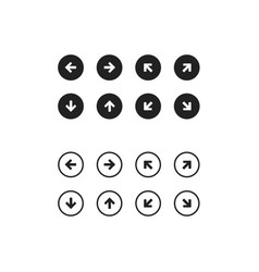 Web application navigation interface icon set vector