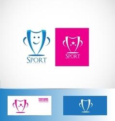 Winner sport cup trophy logo vector