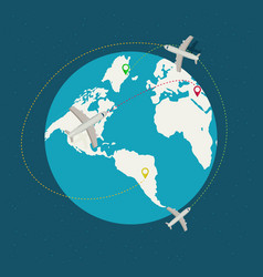 World travel and tourism concept vector