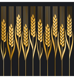 Wheat ion black background vector