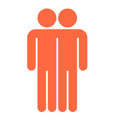 two man sign people icon vector image