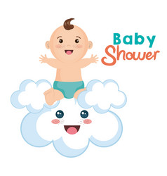 Baby and cloud design vector