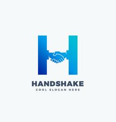 Handshake abstract sign symbol or logo vector